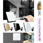 Crystal Glass 1/2/3 Gang 1 Way Panel Touch Home Light Switch w Remote Controller