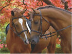 2 Horses - 3D Lenticular-12X16 STUNNING POSTER PRINT- w/or w/o frame