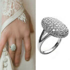 New Women Wedding Rings Engagement Ring Silver Crystal Jewelry Size 6-10