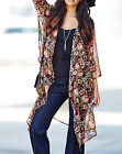 Anthology @ Marisota Sheer 70's BoHo Lightweight CHIFFON Kimono Top Size 10 - 30