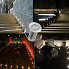 19mm Thin 0.4W LED Deck Path Light Plinth Outdoor Garden Ground Step Stairs Lamp