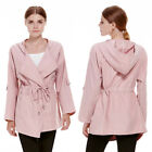 Women's Fashion Warm Hooded Long Coat Jacket Trench Windbreaker Parka Outwear