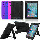 Hybrid Rugged Kickstand Case Cover Shockproof Armor Hard Case For iPad Mini 4