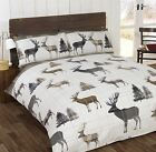 Flannelette Stag 100% Brushed Cotton Thick Luxury Duvet Cover Winter Bedding