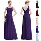 Womens Sexy Long Chiffon Homecoming Gown Evening Prom Wedding Party Dress 2~16
