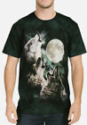The Mountain Men's Graphic Tee Three Wolf Moon T-shirt Adult Size