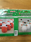 "PACK OF 4 SNOWMAN/SANTA  6"" (15CM) HONEYCOMB DECORATIONS CHRISTMAS FREE P&P"