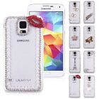 3D Handmade Bling Diamond Crystal Hard Case Cover Stand for Samsung Galaxy S5