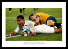 England 2003 Rugby World Cup Final Jason Robinson Try Photo Memorabilia (828)