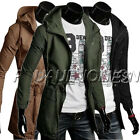 PLUS SIZE ! CHEAP Military Mens Casual Jacket Parka Hooded Trench Coat Outerwear