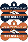 Denver Broncos Custom Pet Id Dog Tag Personalized w/ Your Pet's Name & Number $8.97 USD on eBay