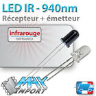 Lot Emetteur + Recepteur Infrarouge - 940nm - LED 5mm ( Compatible Arduino )