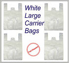 Quality White Large HD Vest Style Plastic Carrier Bags 11