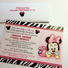 Minnie Mouse and Zebra Baby Shower Invitations-Set-of-10-All-Wording-Customized