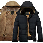 STYLISH Men Warm Hooded Parka Winter Thicken Fleece Coat Outwear Jacket Overcoat