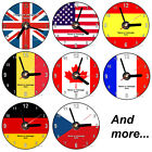 Country Flag personalised Cd wall clock with desk stand