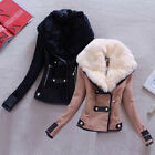 Fashion Women Winter Cotton Fur Collar Coat Jacket Parka Outwear Overcoat Tops