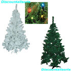 CHRISTMAS TREES GREEN & WHITE 5FT & 6FT Inc 200 Indoor & Outdoor LED lights