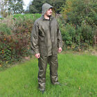 Jacket and Trousers Waterproofs Set Olive - Camping Hiking Survival Hooded New