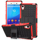 For Sony Xperia M4 Aqua E2353 E2306 Red Stand Duty Hybrid Armor Heavy Case Cover