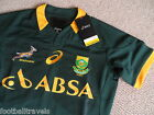 S M L XL ASICS SOUTH AFRICA TEST ATHLETIC SPRINGBOKS RUGBY SHIRT JERSEY New