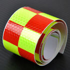 "Chequer Night Reflective Safety Warning Conspicuity Tape Strip Sticker 2""X118"""