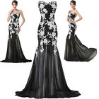 New Formal Maxi Ball Gown Bridesmaid Prom Party Long Lace Wedding Evening Dress