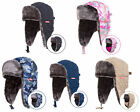 Winter Ladies Mens Ski Thermal Russia Ushanka Style Earflap Cap Bomber Hat Mask