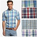 NEW MENS TOMMY HILFIGER SHORT SLEEVE PLAID BUTTON SHIRT You Pick COLOR & SIZE