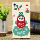 Merry Christmas Painted Pattern Soft TPU Case Cover For Sony Xperia Z5 4 3 2 1