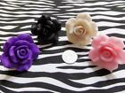 BEAUTIFUL XL DESIGNER STYLE ROSE RINGS - COMFORTABLE ADJUSTABLE BASE OSFA