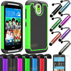 NEW HTC Desire 526 526G Hybrid Impact Rugged Shockproof Armor Hard Case Cover