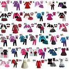 """Dollie & me sz 2-14 and 18"""" doll matching outfit dress american girl"""