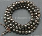 Natural Black Ebony Wood Round Ball Beads Bracelet 6mm 8mm 12mm 15mm 18mm 20mmWood - 179274