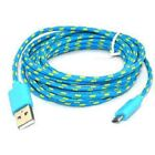 Strong Fabric Braided Micro USB Charger Cable Data Sync Lead fits SAMSUNG Galaxy <br/> BUY 3 FOR THE PRICE OF 2 - ADD 3 TO BASKET FOR DISCOUNT