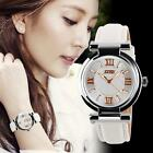 Fashion Skmei Luxury Womens #B Silver Leather Band Quartz Wrist Watch Waterproof