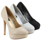 Party Damen Pumps Plateaupumps Stiletto Absatz Abendschuhe 78566 Modatipp