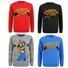 Kids Girls Boy Knitted Banana Minion Boom Christmas Xmas Novelty Jumper Top 2-14