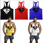 Superman Men's Personalized Tee Cotton Gym Tank Tops Stringers Bodybuilding Vest
