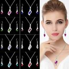 Wholesale new 925silver necklace earing ring set Valentine's Day gift jewelry