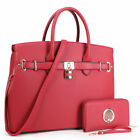 Внешний вид - New Womens Handbags Faux Leather Satchel Tote Shoulder Bag Large Purse Briefcase