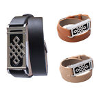 """New Long 16"""" Black/Brown Double Wrap Leather Band+Silver Holder For Fitbit Flex"""