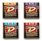 DUNLOP ACOUSTIC GUITAR STRINGS 20/80 Bronze medium light various gauges