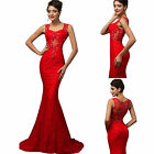 2016 Long Wedding Formal Lace Ballgown Evening Prom T Stage Cocktail Party Dress