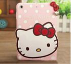 Hello Kitty iPad air mini 1/2/3/4 Silicone Soft 3D Case Cover Pink Red Blue whit