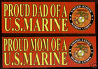 PROUD MOM DAD US MARINES USMC WM MCRD BUMPER STICKER GRADUATION SON DAUGHTER WM