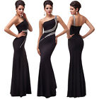 NEW Sexy Long Mermaid Dress Black Evening Formal Party Cocktail Bridesmaid Dress