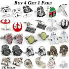 Star Wars Storm Trooper Darth Vader Novelty Wedding Cufflinks Perfect Mens Gift $4.5 USD on eBay