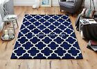 Arabesque Blue Hand Tufted Wool and Viscose Rug in various sizes and runner