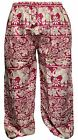 Ladies Elephant Print Hippie Harem Pants Festival Women Aladdin Hippy Trousers